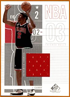 2002-03 SP Game Used #12 Eddy Curry GAME USED JERSEY CHICAGO BULLS