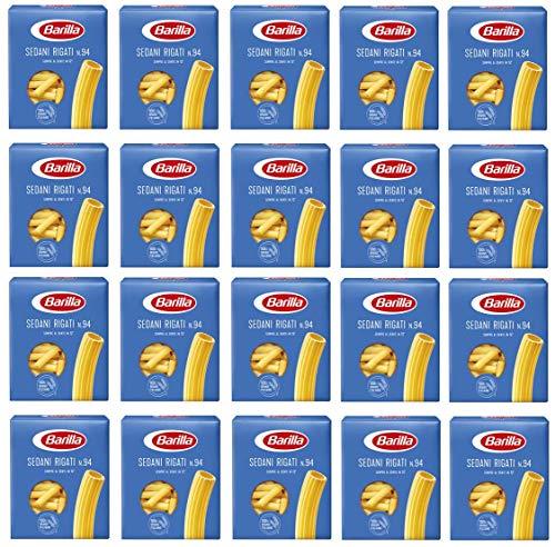 Barilla 20 x Sedani Rigati Pasta. Non 94. 500 g 100 % italien.