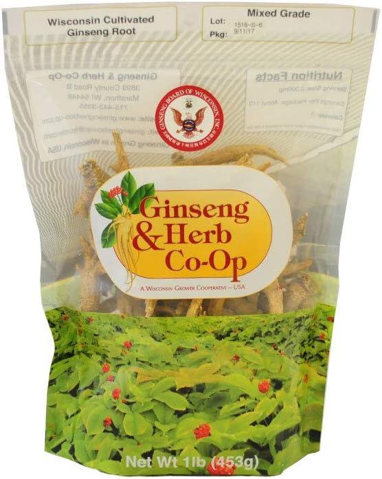 100% Pure Wisconsin American Ginseng - Mixed Roots. 16oz Grade 数量限定アウトレット最安価格 品質検査済