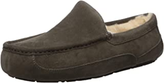 UGG Men's Ascot Slipper, Charcoal, 11EEE Wide US