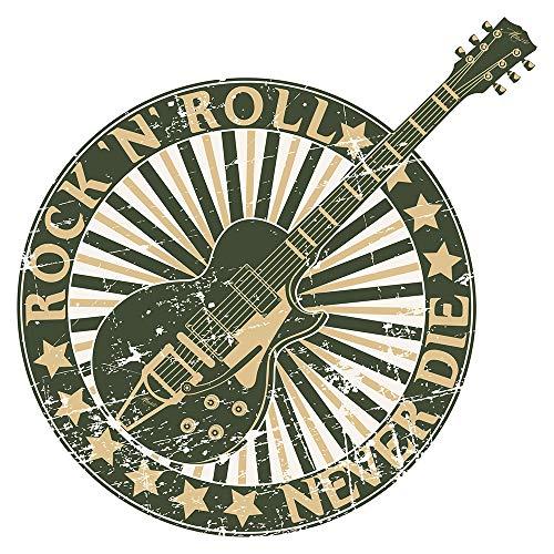 Wandtattoo Musik Wandsticker Rock 'n' Roll Gitarre im Vintage Design Musikbild