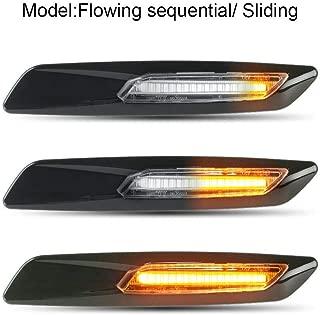 Gempro 2Pcs Sequential Amber LED Side Marker Light Turn Signal Lamp For BMW 1 3 5 Series E81 E82 E87 E88 E90 E91 E92 E93 E60 E61