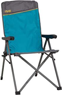 Uquip Folding Chair Justy with Adjustable Reclining Back, Heavy Duty, 260 lbs
