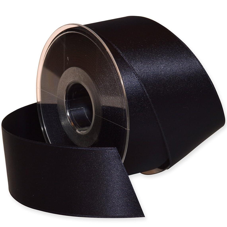 Morex Ribbon Double-Face Swiss Satin Ribbon, 1-1/2-Inch by 27-Yard Spool, Midnight Blue