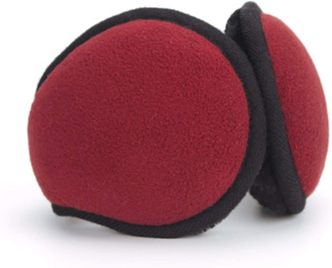 Men's Earmuffs Foldable Ear Warmers Polar Fleece Unisex Winter Warm Ear Protection Comfortable Outdoor Skiing and Biking (Color : Red)