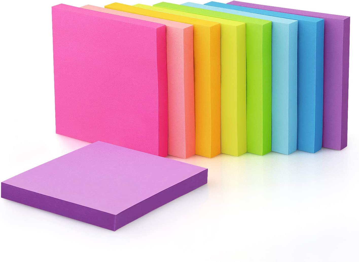9 Pads Online limited product Sticky Notes 3x3 Bright Colors Self-Stick safety Supe