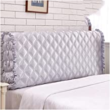 Universal Bed Headboard Slipcover Faux Silk Quilted Bed Headboard Cover Stretch Protector Bed Decoration Stretch Solid Col...