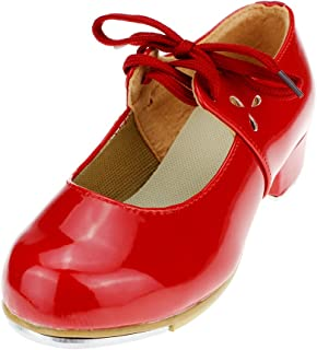 MSMAX Adult PU Latin Tap Dance Shoes