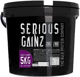 The Bulk Protein Company 5 kg Black Cherry Serious Gainz Mass Gainer Powder by The Bulk Protein Company