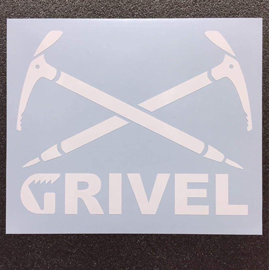 イタリアのライドタクシーGRIVEL グリベル ピッケルロゴモチーフ カッティングステッカー