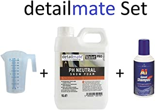 Set ValetPRO ph Neutral Snow foam 1 Liter + 250ml Messbecher detailmate + A1 Speed Shampoo Dr. Wack 500 ml Autoshampoo für Autowäsche