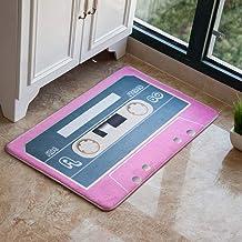 ESUPPORT Personality Tape European Welcome Doormat Entrance Floor Mat Rug Non Slip 23.6 x 35.4in, Pink