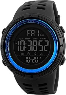 Men's Digital Sport Watch Led Electronic Military Wrist Watch with Alarm Stopwatch Count Down Calendar Date Window