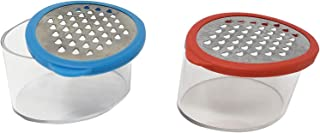 "Mini Cheese or Garlic Grater Shredder with Storage Container 3"" Ideal for Zesting Citrus & Small Vegetables (2 Pack)"