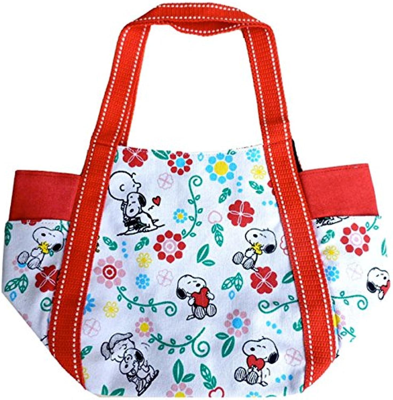 [ SNOOPY'S BEAGLE HUG ] PEANUTS balloon bag (S) Flower Hug SNAP672