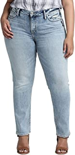 Women's Plus Size Elyse Relaxed Fit Mid Rise Slim Jeans