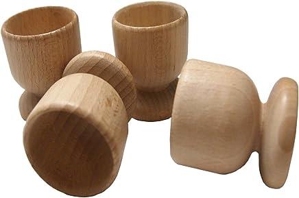 Preisvergleich für Eierbecher-Set aus Buchenholz