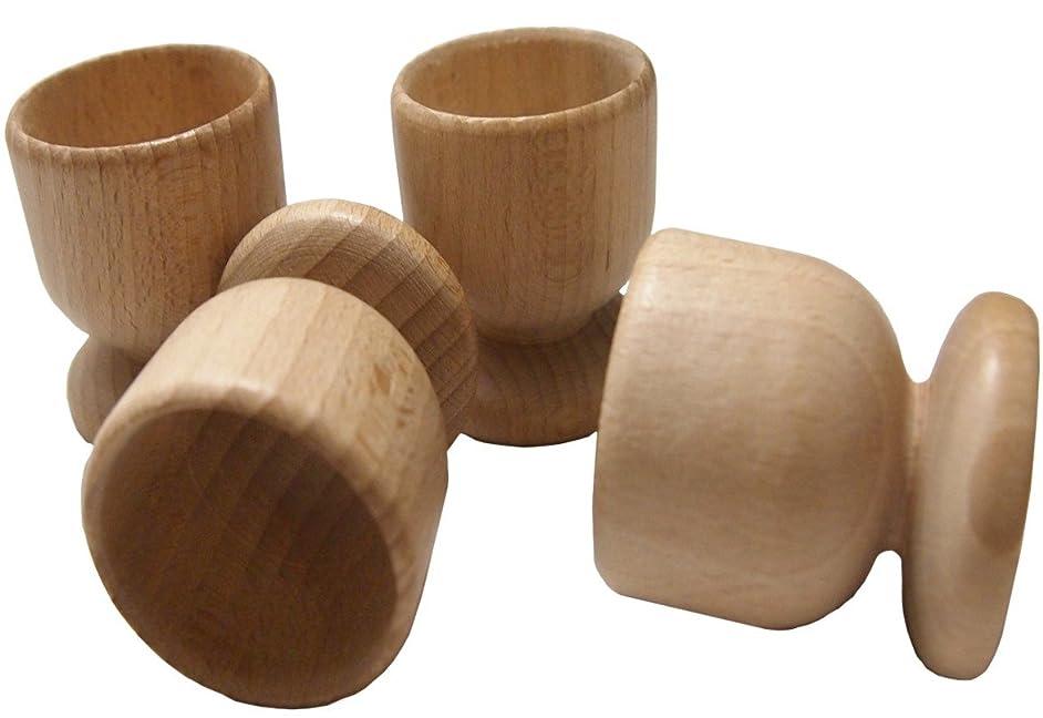 DB Gardentools Beech Wooden Eggs Cups Set