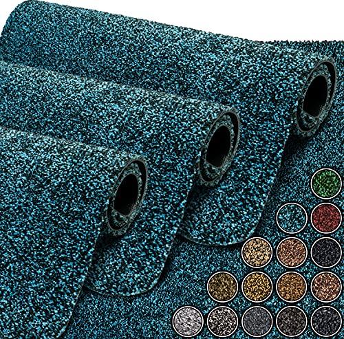 GadHome wasserabsorbierende Fußmatte, Meerblau / Royal 40 cm x 60 cm | Fußmatte für innen und außen | rutschfeste, waschbare, schnell trocknende Haustürmatte aus weicher Baumwolle
