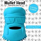 Lord Anson Mullet Head Interactive Dog Toy (Blue 1 Pack) - Treat Dispensing Dog Puzzle Toy - Pet Chew Toy for Separation Anxiety, Boredom, and Fetch