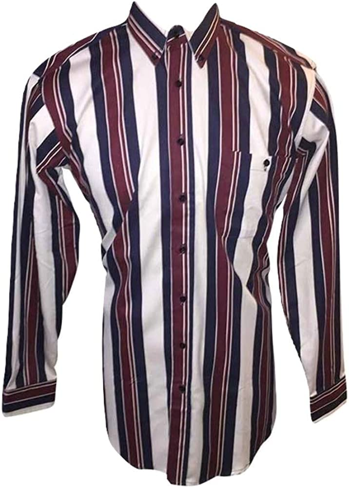 Cambridge Hall Tall Man's Funky Stripe USA Made All Cotton Shirts