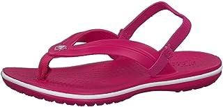 Crocs Baby Crocband Strap Flip Flop Ballet Flat, candy pink, 10 M US Toddler