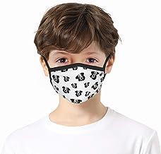 zhouyongz Australische herder zwart wit gezicht bandana voor kinderen, outdoor activiteiten, stofbestendig, volledige gezi...