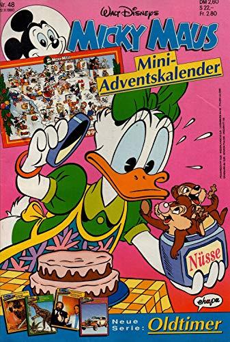 Micky Maus Zeitschrift - Nr. 48 - Vom 22.11.1990 - Komplett mit den Heft-Extras