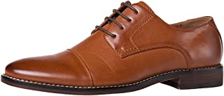 J's.o.l.e Men's Leather Lined Formal Oxford Cap Toe Lace Up Dress Shoes