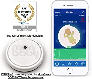 MonBaby(A) Baby Monitor with Sensor Alarm That Monitors Temperature, Breathing and Body Movement - Portable, Wearable, Accurate and Easy to Use for Your Peace of Mind