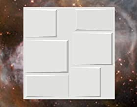 """Kayra Decor 3D Embossed Paintable Wall Panels (20"""" X 20"""", 1 Pc, PVC, White Color)"""
