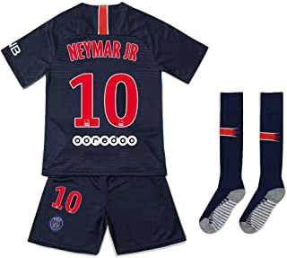 6-11old JDETAGEEQI Paris Saint Germain 2018//2019 Neymar JR 10# Youths//Kids Home Soccer Jersey Shorts Socks Armbands
