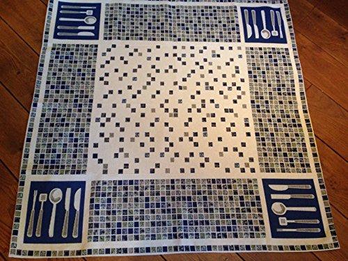 Provencestoffe.com Gobelin Tischdecke, Mitteldecke, ca. 100x100 cm Mosaik-Design