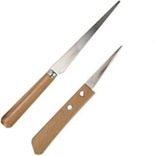 Gonioa 2 Different Sizes Fettling Knife Handle Craft Art Tools (8.3 Inch & 6.7 Inch)