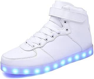 Led Shoes Hi-top Adult 7 Color USB Rechargeable Light Up Shoes Unisex Men Women LED Sneakers
