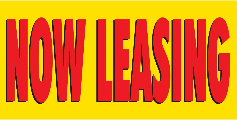 HALF PRICE BANNERS Finally popular brand Now Purchase Leasing Vinyl Outdoor Banner -Indoor 3X