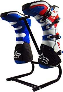 Pit Posse Motorcycle Cleaning Shoe Holder Dirt Bike ATV Boot Boots Wash Drying Stand Rack Cleaning Organizer