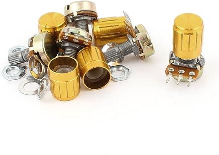 Aexit 10 Pi/èces 6mm Trous Diam/ètre Rond Bouton Potentiom/ètre Couvercle Capuchon 18mmx15mm 321A189