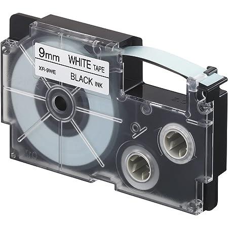 カシオ ネームランド ラベルライター 純正 テープ 9mm XR-9WE 白地に黒文字