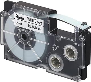 Casio 9mm Label Printer Cartridge Black Print on White Tape