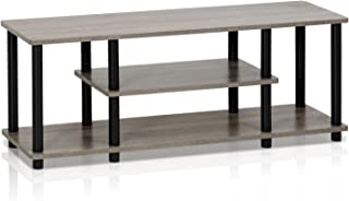 FURINNO Turn-N-Tube 3-Tier Entertainment TV Stand, Round,...