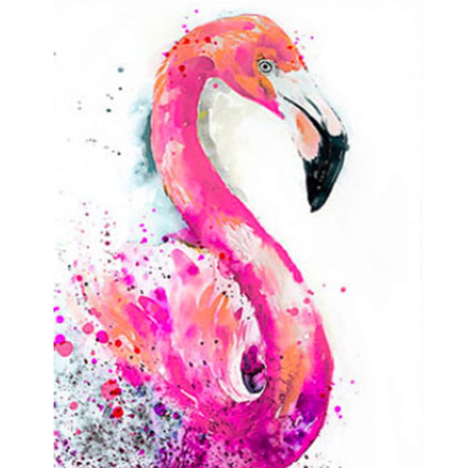 TZADDH DIY 5D Diamond Painting Kits Full Drill MoTZADDH DIY 5D Diamond Painting Kits Full Drill Mosaic Diamond Embroidery, Flamingosaic Diamond Embroidery, Flamingo (style6, 20x25cm)