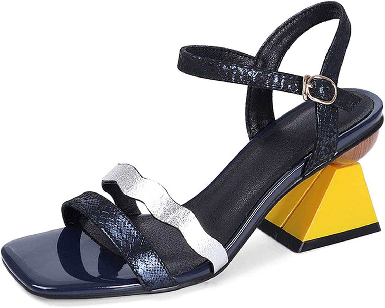 Longbao Fashion Genuine Leather Prom Night Club shoes Woman Strange Heels s