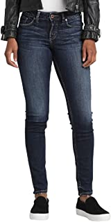 Silver Jeans Co. Women's Suki Curvy Fit Mid Rise Skinny Jeans