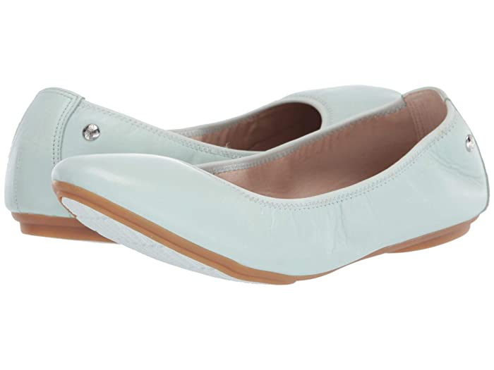 Hush Puppies  Chaste Ballet (Pale Blue Leather) Womens Flat Shoes