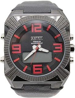 ساعة يد بعقارب ورقمية طراز 00AST009BB02 للرجال