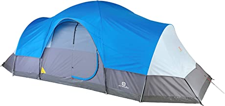 Outbound Tent | Dome Tent for Camping with Carry Bag and Rainfly | Perfect for Backpacking or The Beach | 8 & 12 Person | Blue