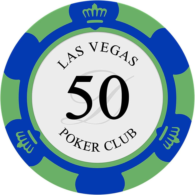 WERTYU 100 Clay Composite Dice Striped Casin Trust Gram Poker Choice 14 Chips