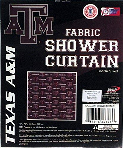 Northwest Texas A&M Aggies NCAA Fabric Shower Curtain (72x72)