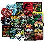 ZJJHX Jurassic Dinosaur Series Stickers para Equipaje Laptop Skateboard Bike Car Sticker de Juguete a Prueba de Agua 75pcs / Lot